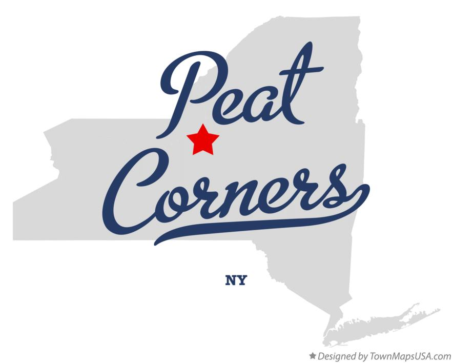 Map of Peat Corners New York NY