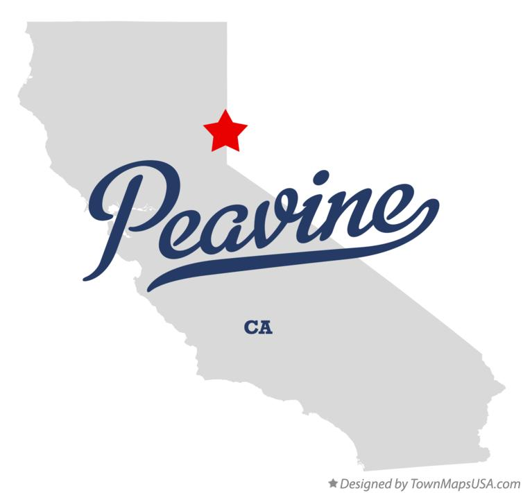 Map of Peavine California CA