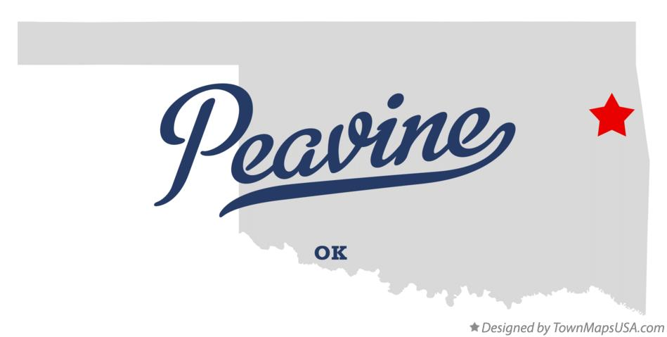 Map of Peavine Oklahoma OK