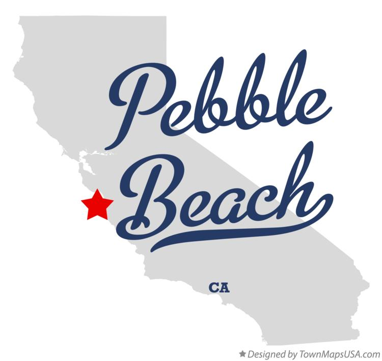 Map of Pebble Beach California CA