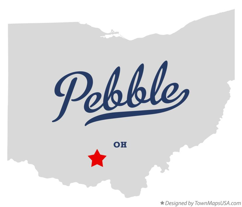 Map of Pebble Ohio OH