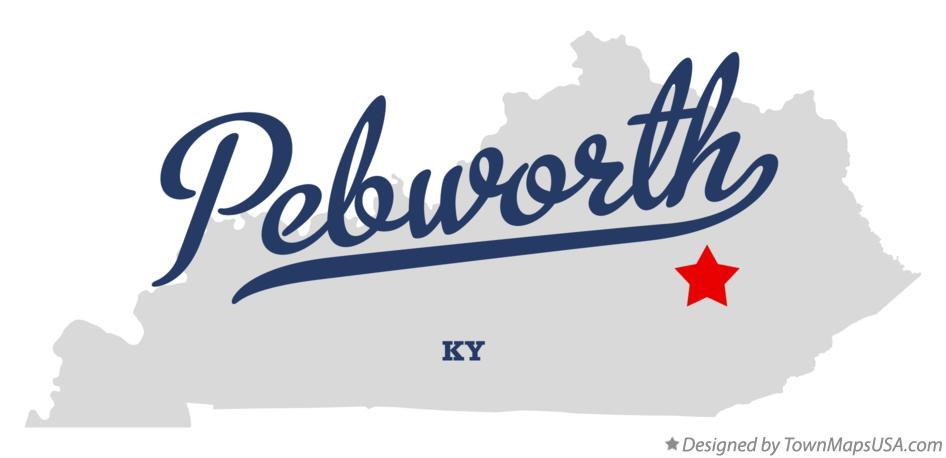 Map of Pebworth Kentucky KY