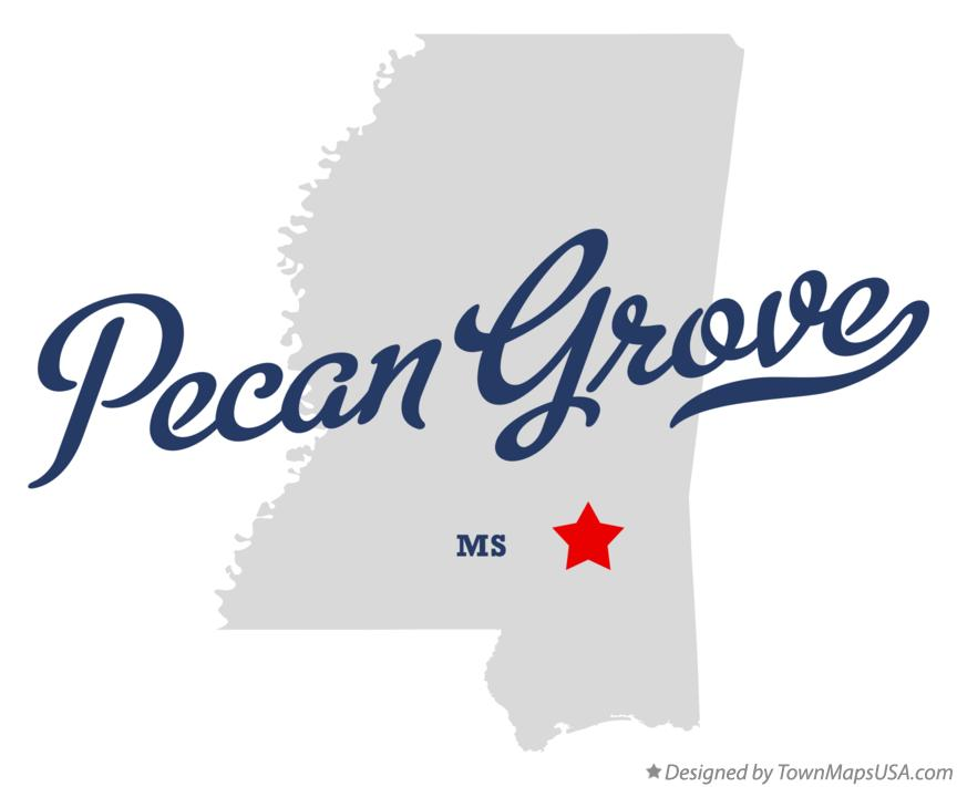 Map of Pecan Grove Mississippi MS