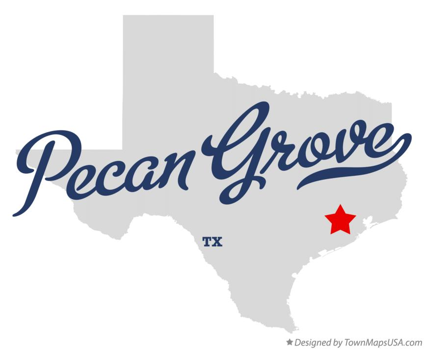 Map of Pecan Grove Texas TX