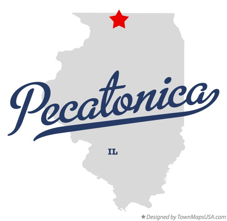 Map of Pecatonica Illinois IL
