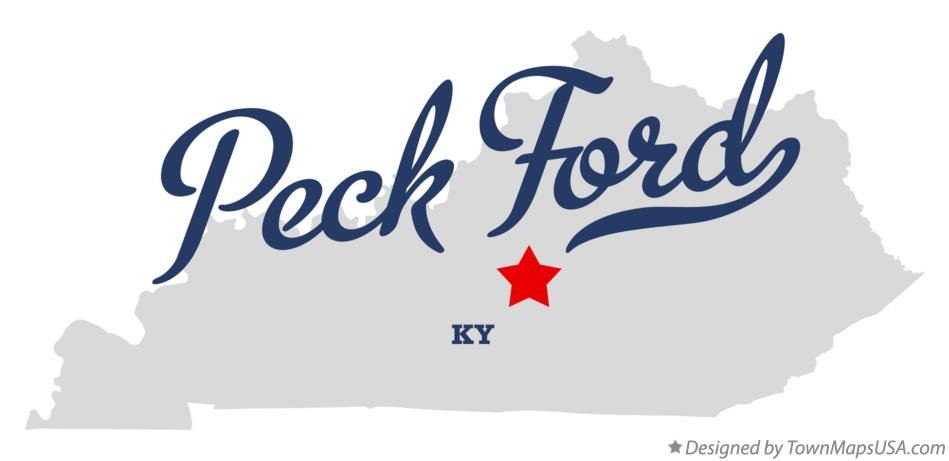 Map of Peck Ford Kentucky KY