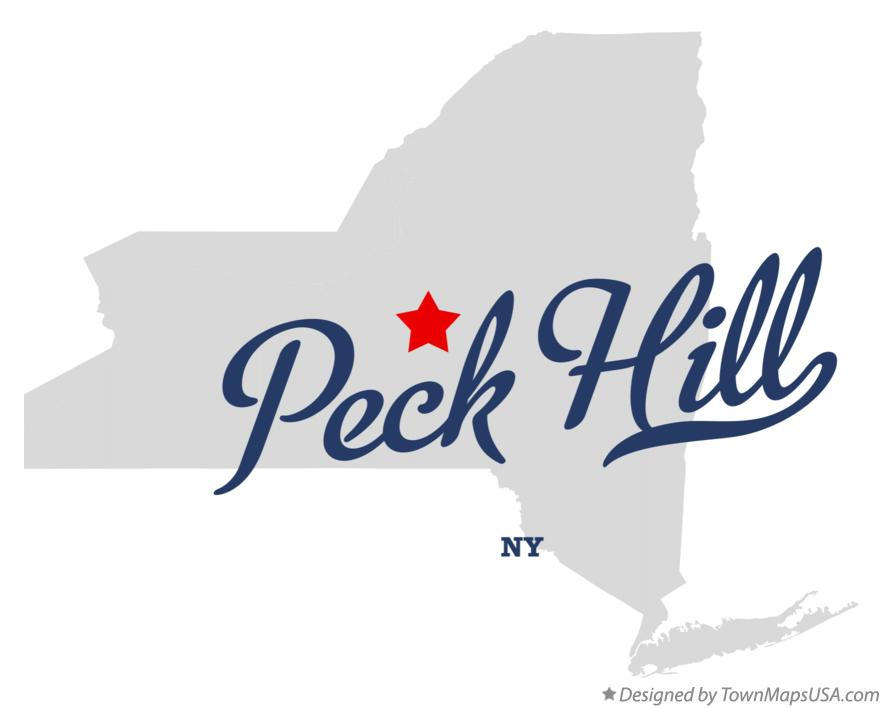 Map of Peck Hill New York NY