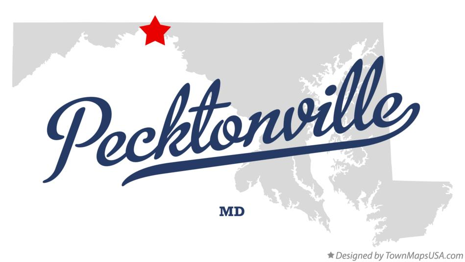 Map of Pecktonville Maryland MD
