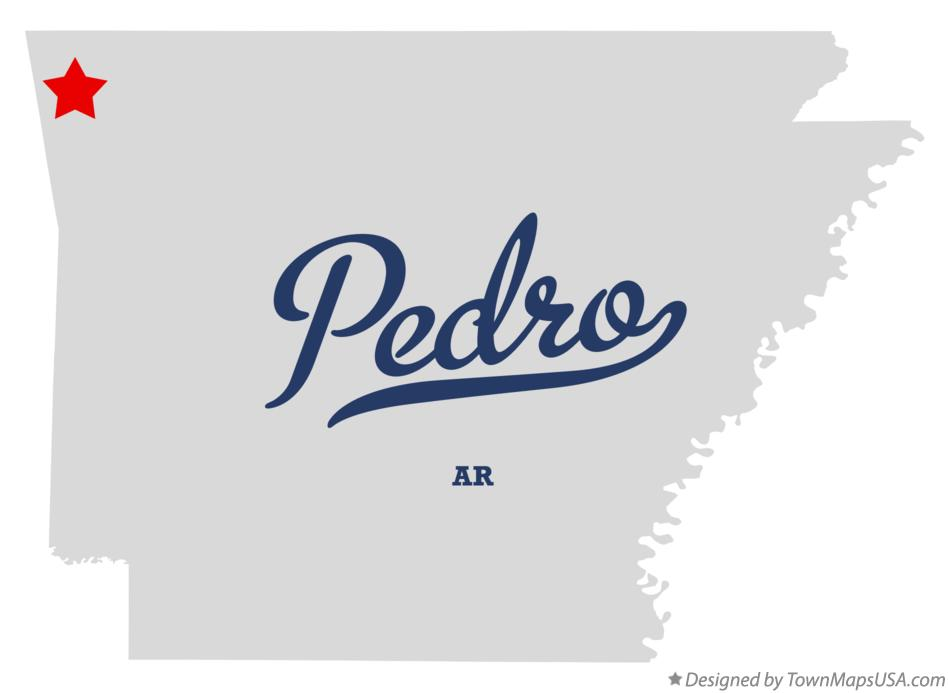 Map of Pedro Arkansas AR