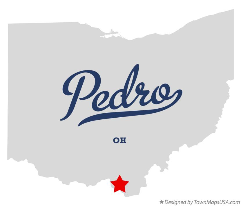 Map of Pedro Ohio OH