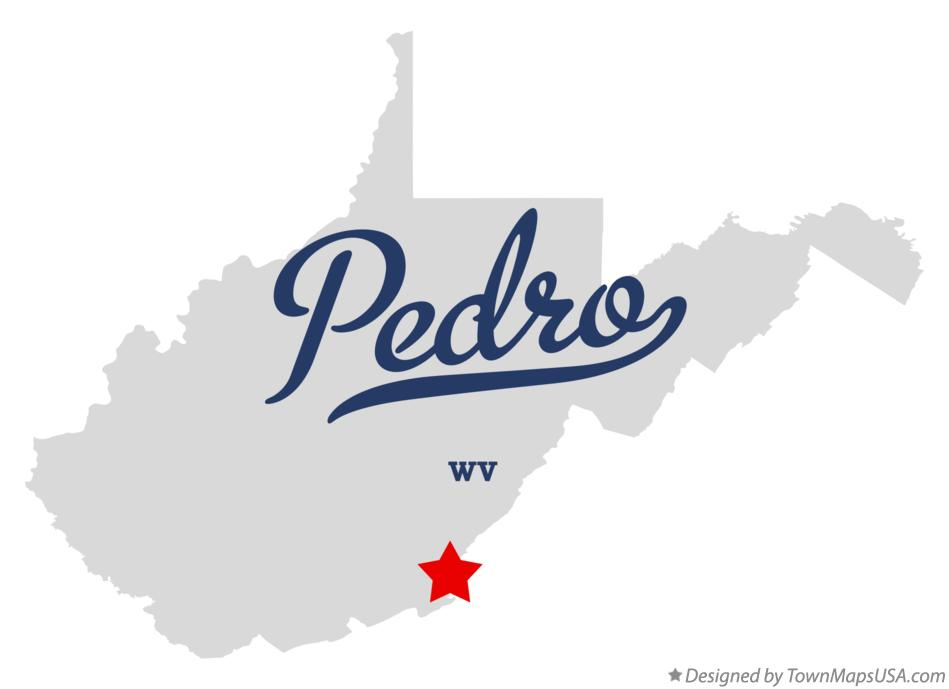 Map of Pedro West Virginia WV