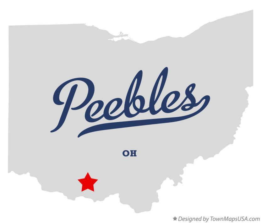 Map Of Peebles Oh Ohio