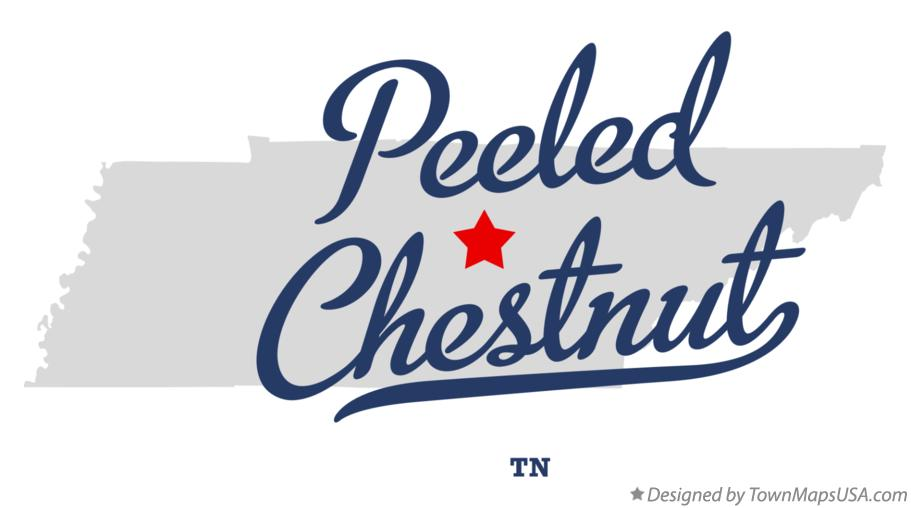 Map of Peeled Chestnut Tennessee TN