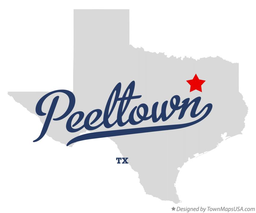 Map of Peeltown Texas TX
