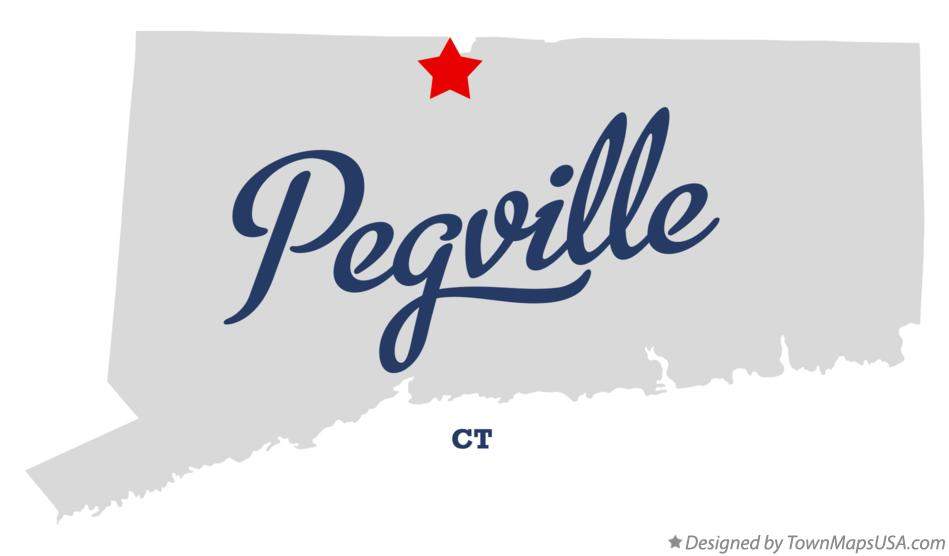 Map of Pegville Connecticut CT