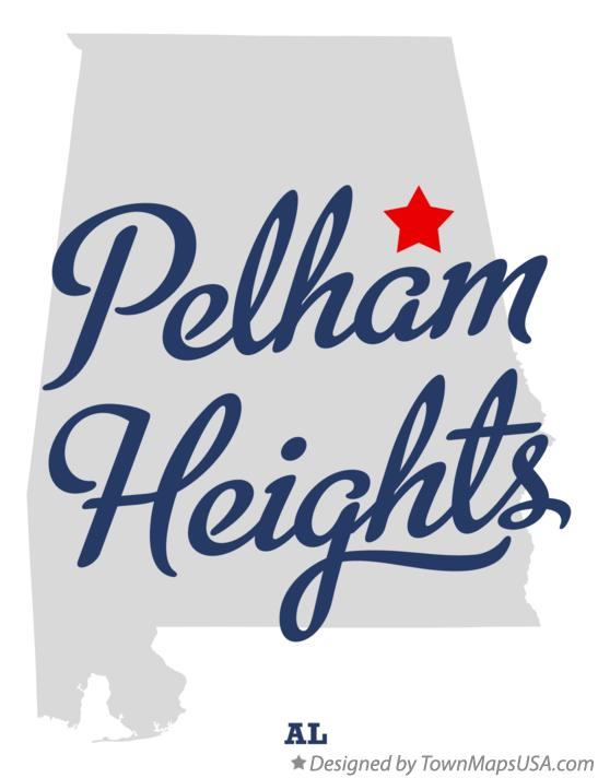 Map of Pelham Heights Alabama AL