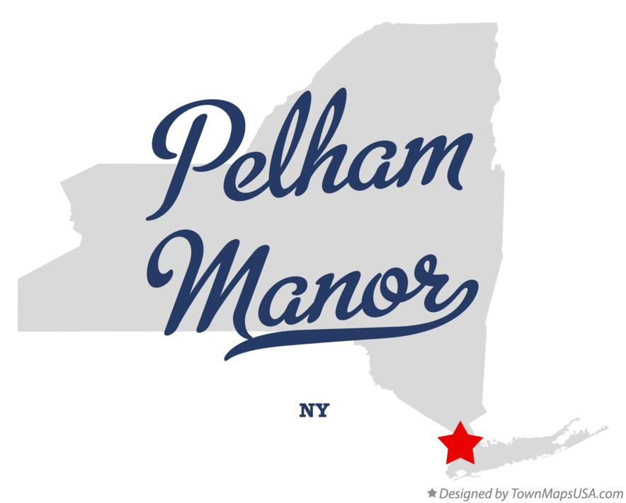 Map of Pelham Manor New York NY