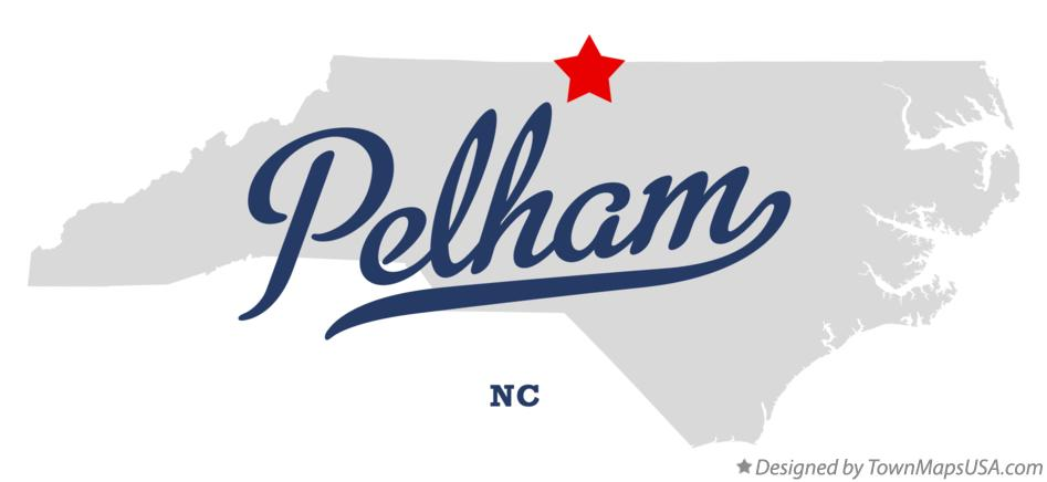 Map of Pelham North Carolina NC