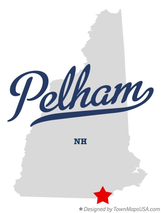Map of Pelham New Hampshire NH