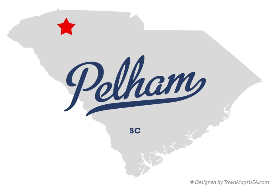 Map of Pelham South Carolina SC