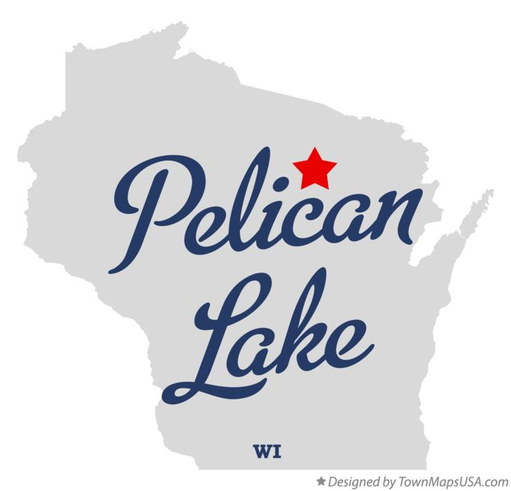 Map of Pelican Lake Wisconsin WI