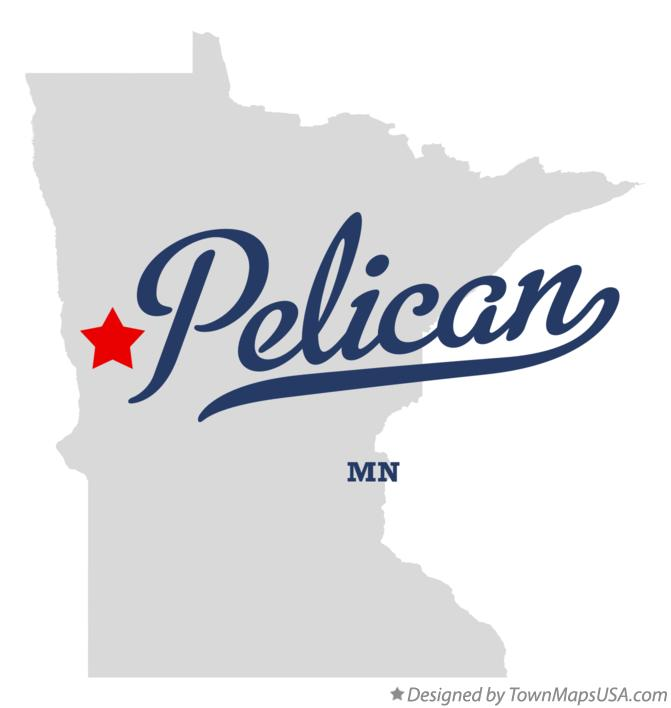 Map of Pelican Minnesota MN