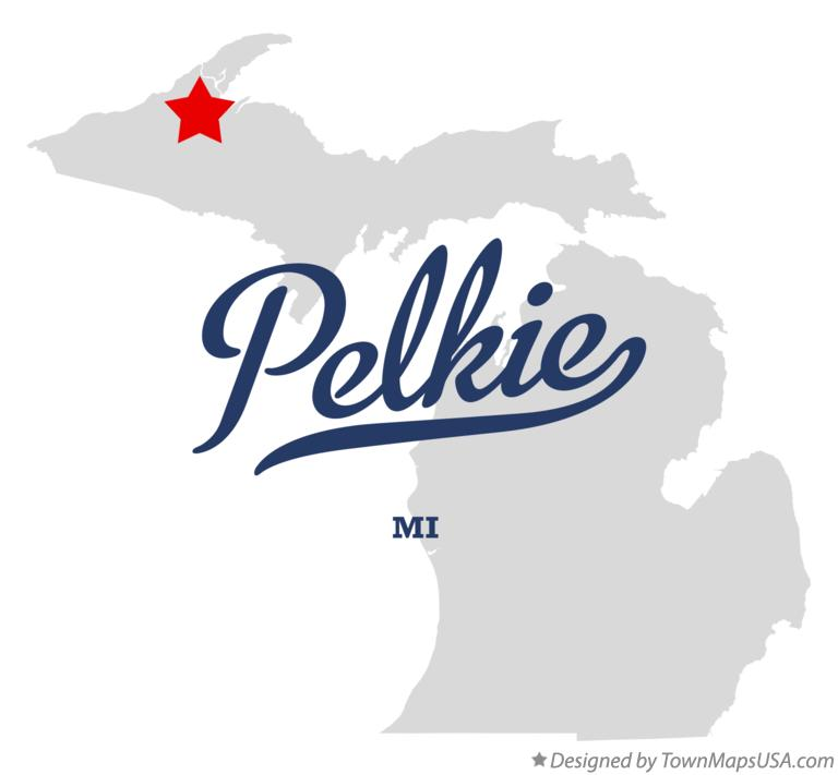 Map of Pelkie Michigan MI