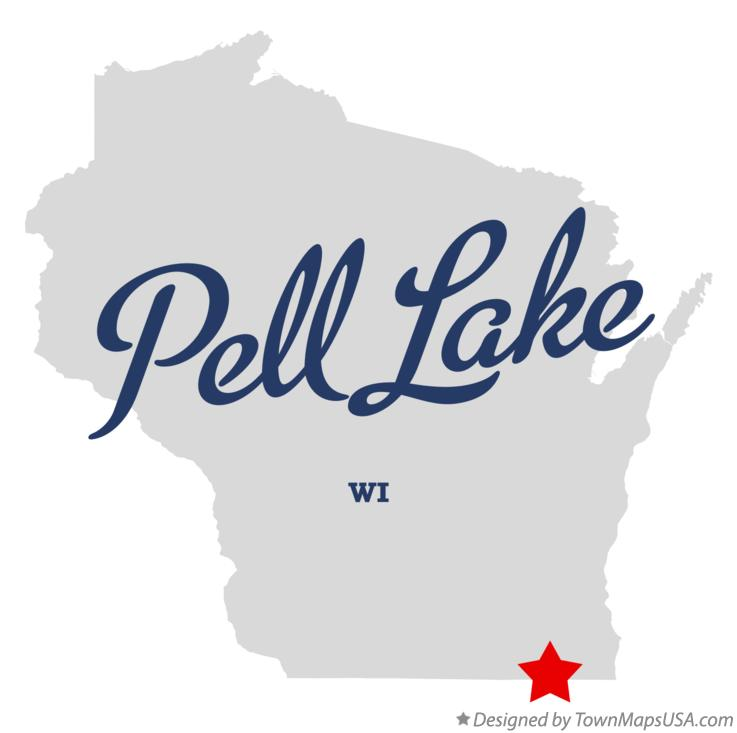 Map of Pell Lake Wisconsin WI