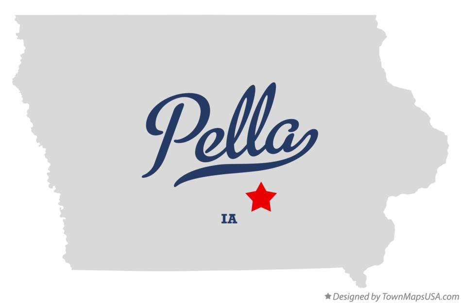 Map of Pella Iowa IA