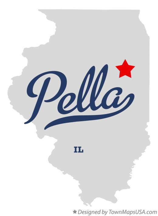 Map of Pella Illinois IL