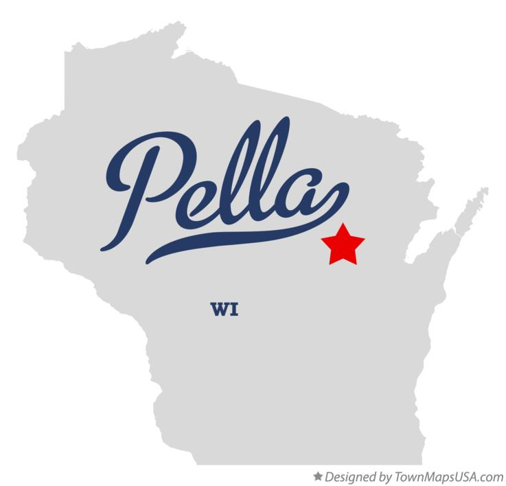 Map of Pella Wisconsin WI