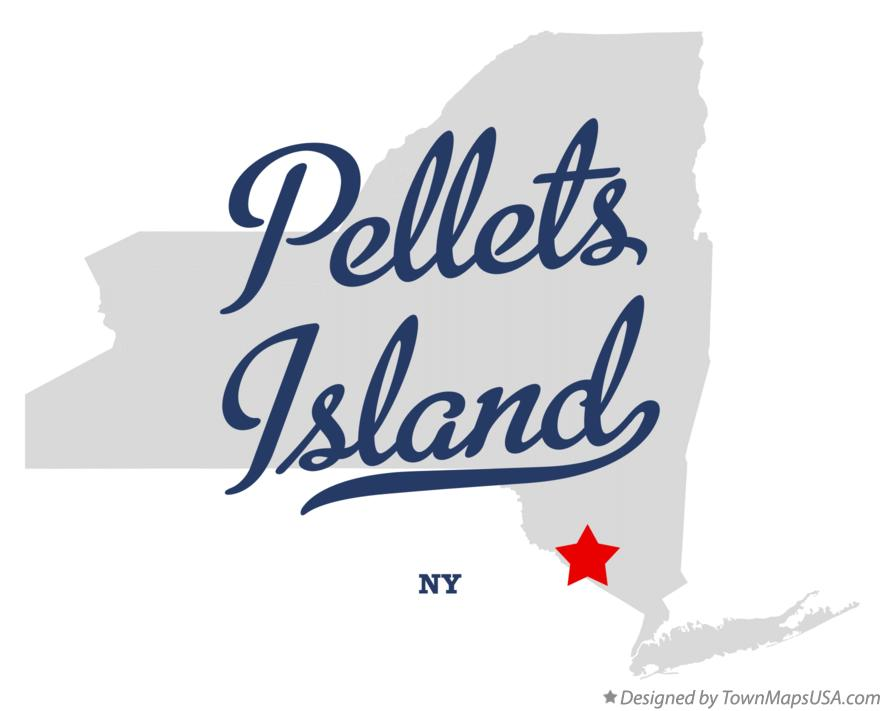 Map of Pellets Island New York NY