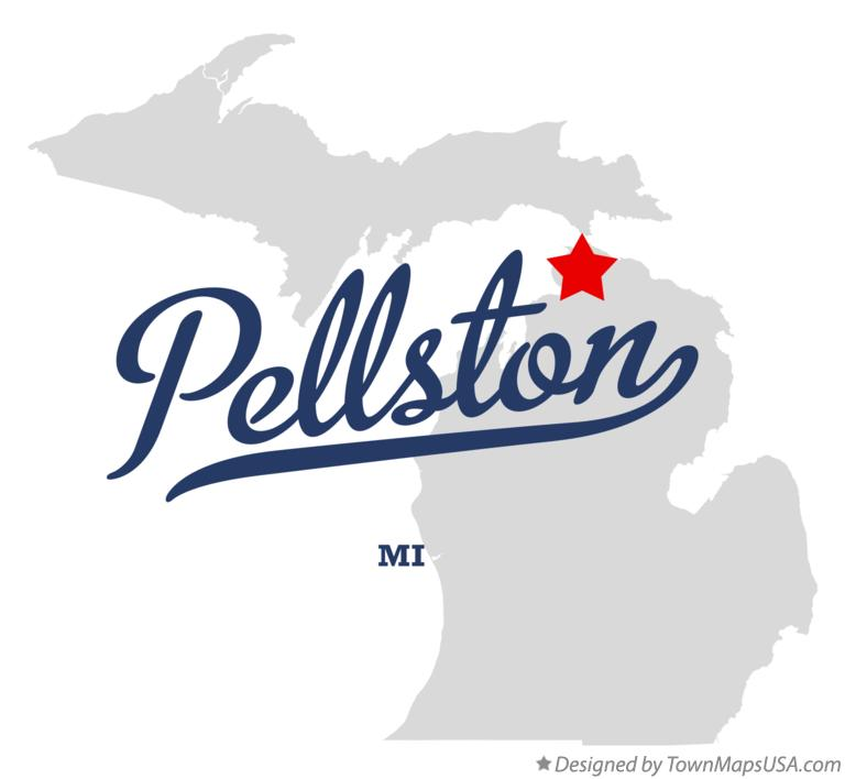 Map of Pellston Michigan MI