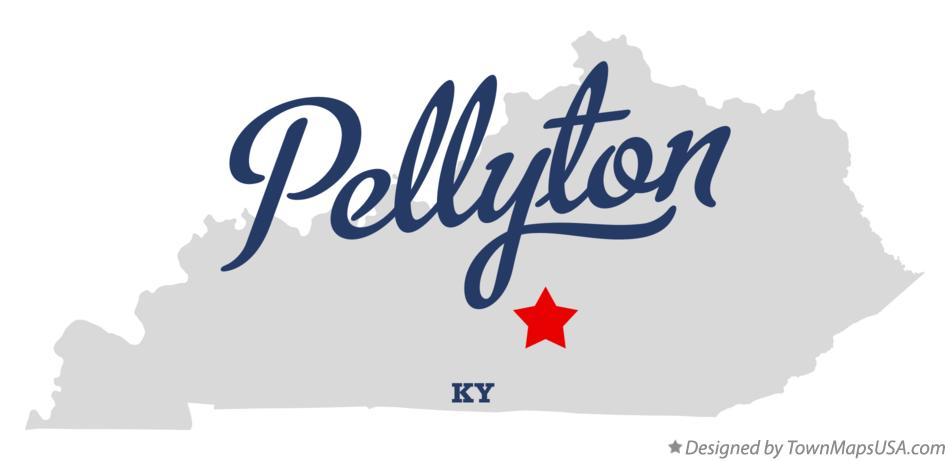 Map of Pellyton Kentucky KY
