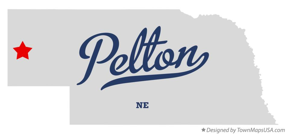 Map of Pelton Nebraska NE