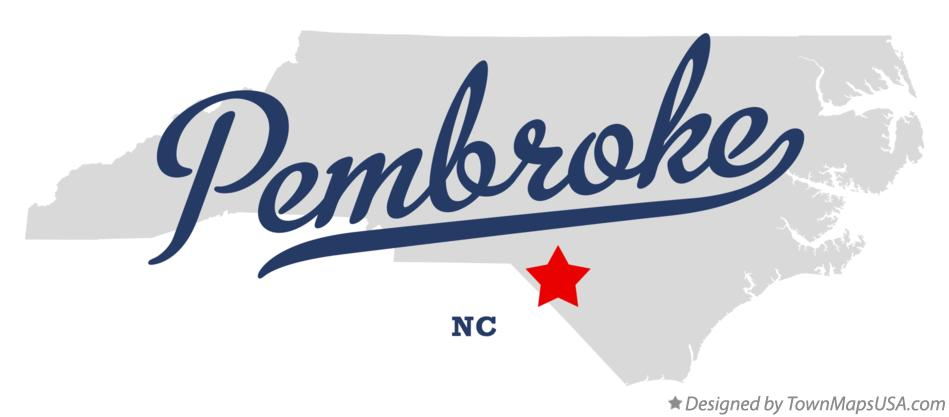 Map of Pembroke North Carolina NC