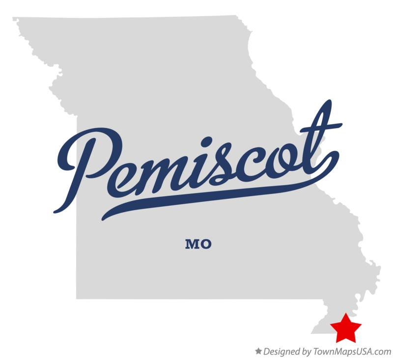 Map of Pemiscot Missouri MO