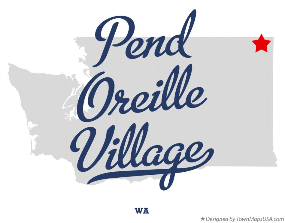 Map of Pend Oreille Village Washington WA