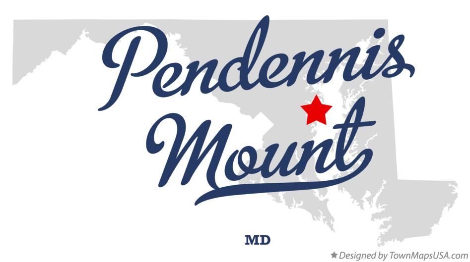 Map of Pendennis Mount Maryland MD