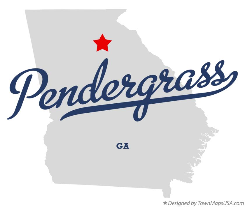 Map of Pendergrass Georgia GA