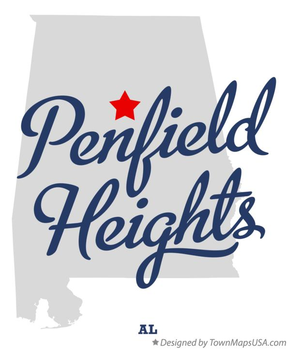 Map of Penfield Heights Alabama AL