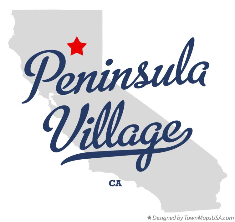 Map of Peninsula Village California CA