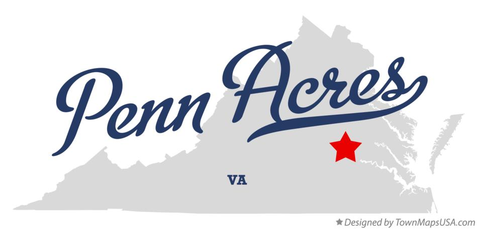 Map of Penn Acres Virginia VA