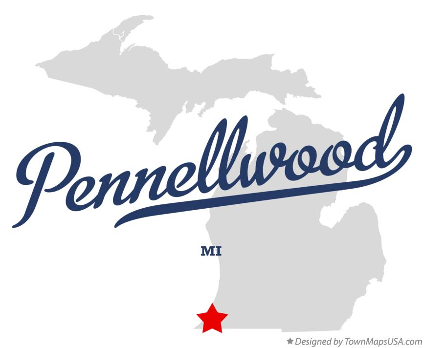 Map of Pennellwood Michigan MI