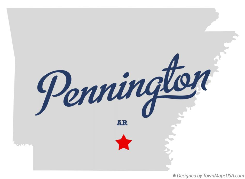 Map of Pennington Arkansas AR