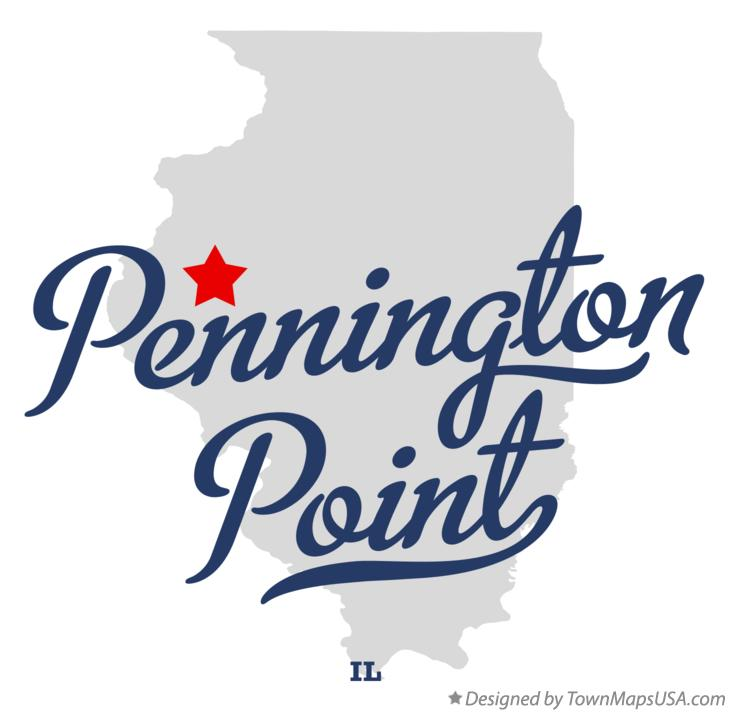 Map of Pennington Point Illinois IL