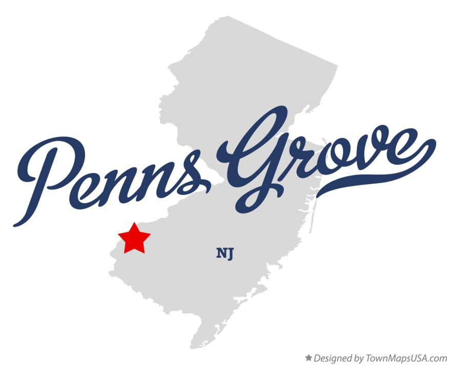 Map of Penns Grove New Jersey NJ