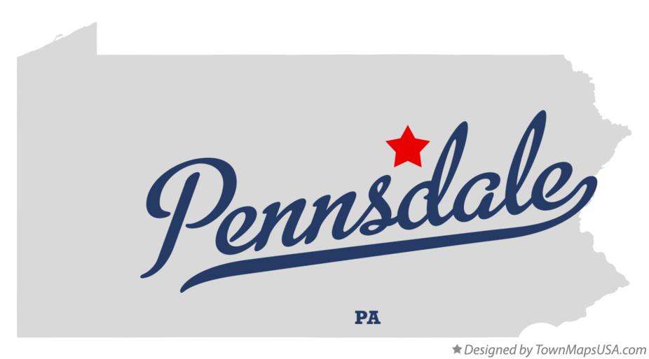 Map of Pennsdale Pennsylvania PA