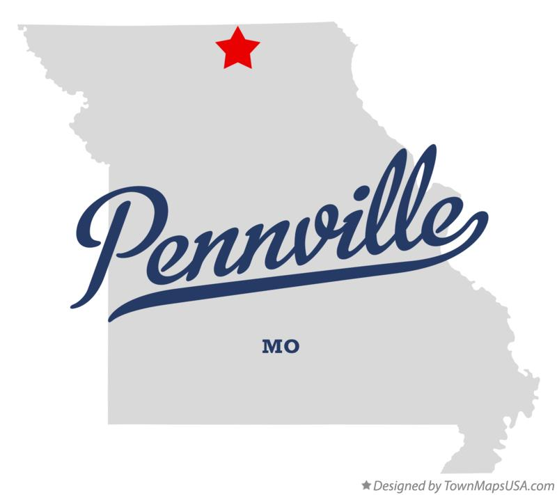Map of Pennville Missouri MO