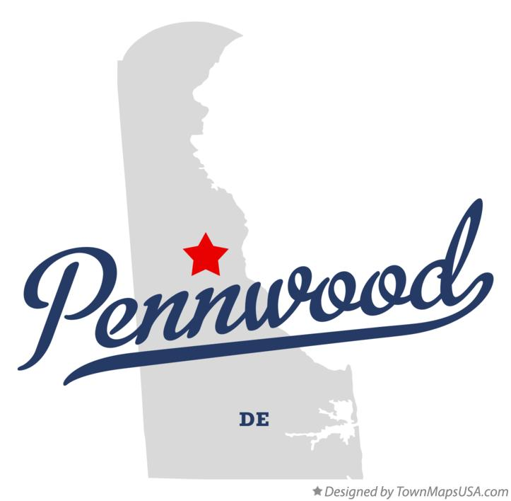 Map of Pennwood Delaware DE